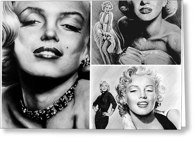 Marilyn Collage Greeting Card by Andrew Read