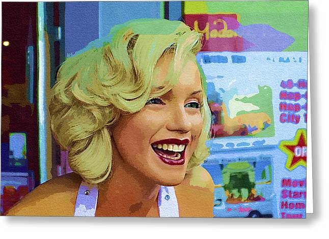 Norma Jean Photographs Greeting Cards - Marilyn Collection 12 Greeting Card by Cindy Nunn