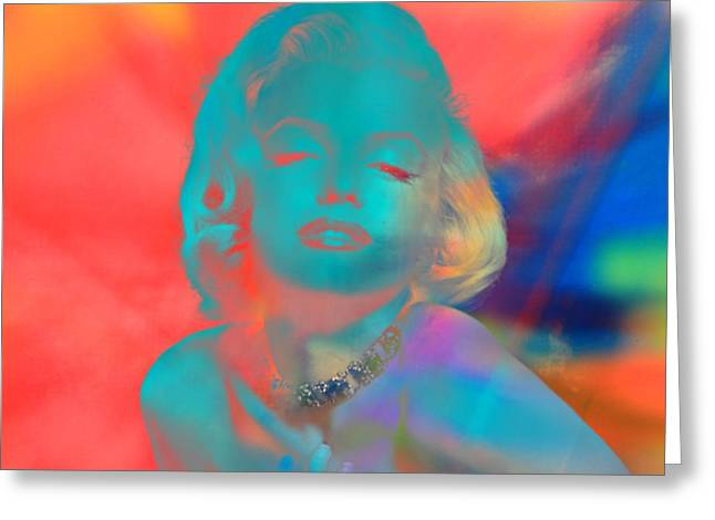 Fame Mixed Media Greeting Cards - Marilyn Greeting Card by Dan Sproul