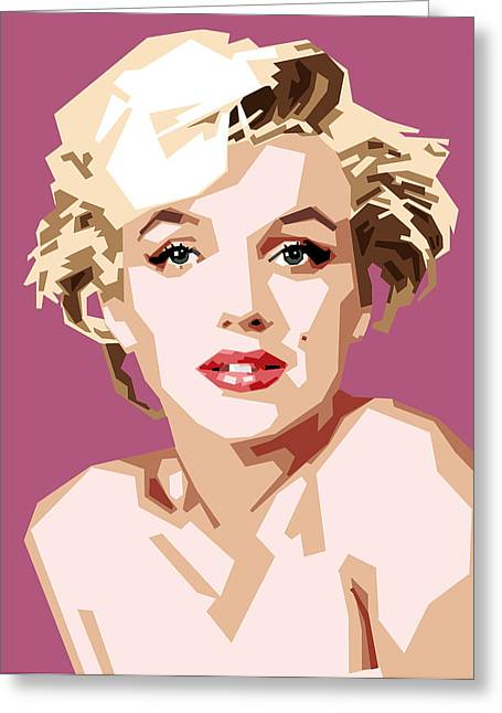 Movie Star Digital Greeting Cards - Marilyn Greeting Card by Douglas Simonson