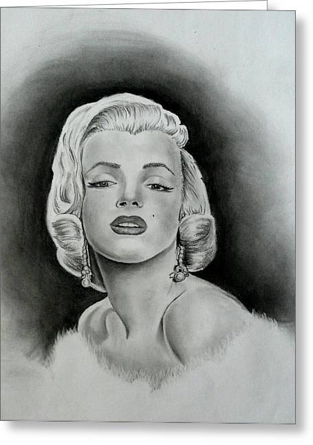 Starlet Drawings Greeting Cards - Marilyn Greeting Card by E White