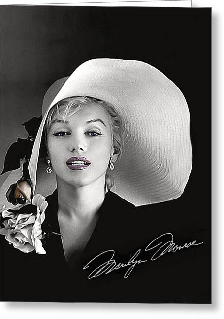 Twentieth Century Digital Greeting Cards - Marilyn Greeting Card by Gary Baird