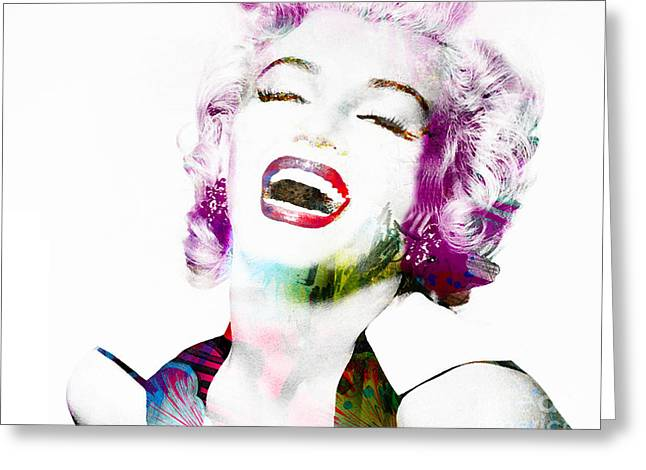 1950s Movies Greeting Cards - Marilyn Greeting Card by Gillian Singleton