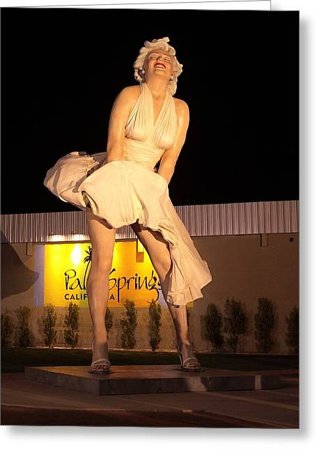 Pretense Greeting Cards - Marilyn in Palm Springs Greeting Card by Viktor Savchenko