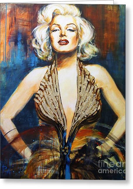Marilyn Greeting Card by Ira Ivanova