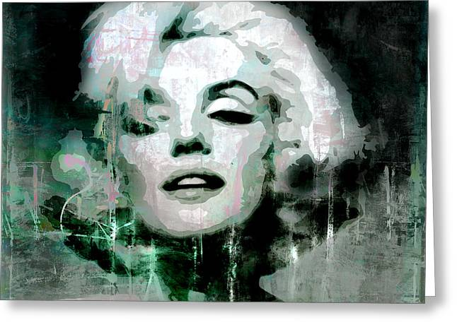 Superstar Mixed Media Greeting Cards - Marilyn Greeting Card by Kim Gauge
