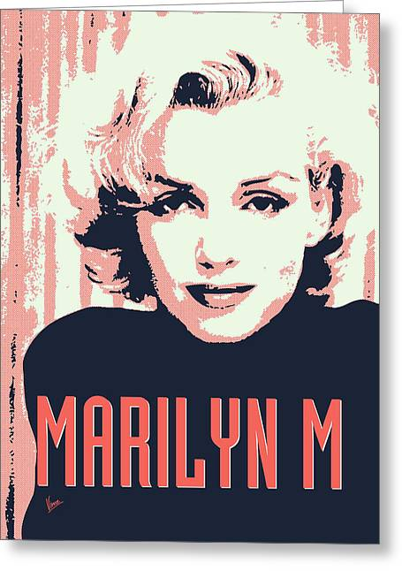 60s Greeting Cards - Marilyn M Greeting Card by Chungkong Art