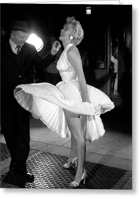1953 Movies Greeting Cards - Marilyn Monroe - Seven Year Itch Greeting Card by Nomad Art And  Design