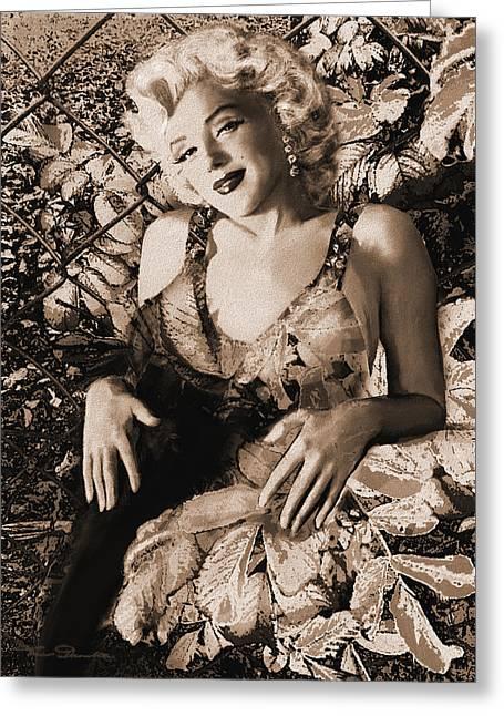 Marilyn Monroe 126 A 'sepia' Greeting Card by Theo Danella