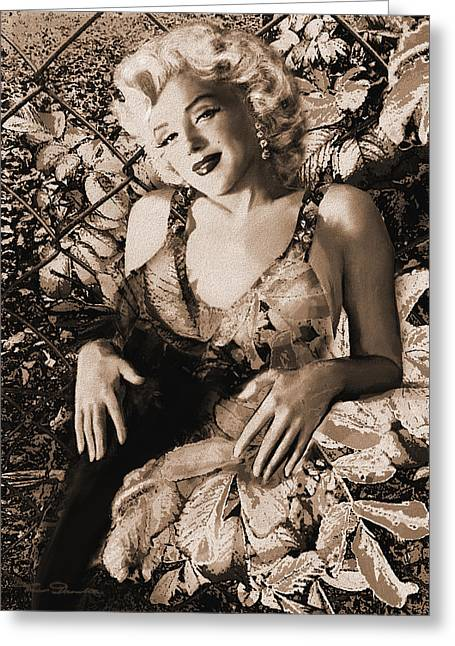 Most Greeting Cards - Marilyn Monroe 126 a sepia Greeting Card by Theo Danella