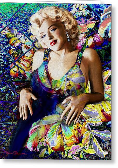 Marilyn Monroe 126 A Greeting Card by Theo Danella