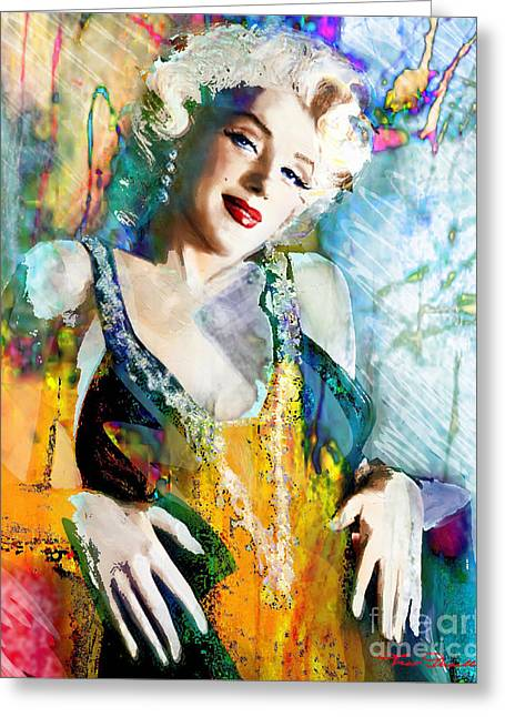 Mortenson Greeting Cards - Marilyn Monroe 126 e Greeting Card by Theo Danella