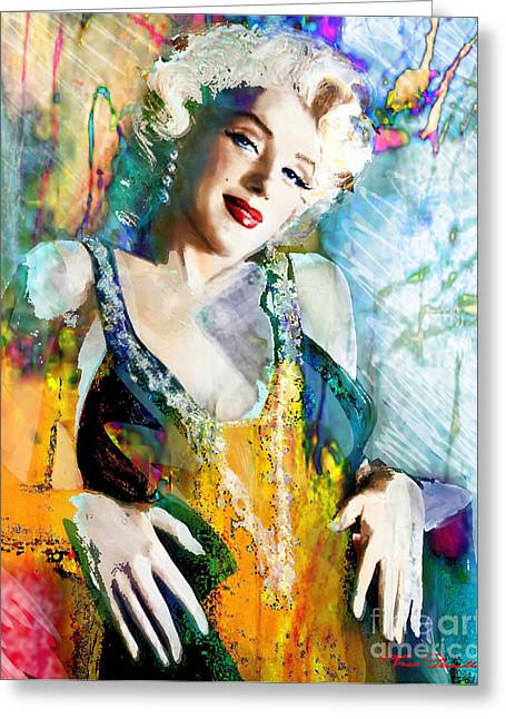 Marlyn Greeting Cards - Marilyn Monroe 126 e Greeting Card by Theo Danella