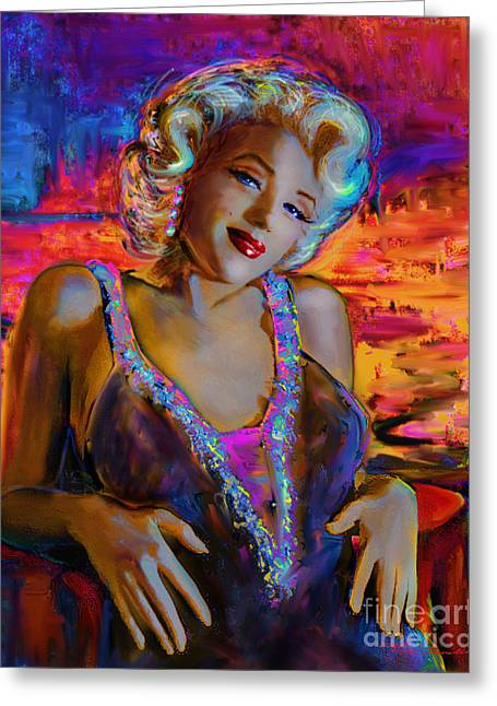 Most Greeting Cards - Marilyn Monroe 126 g Greeting Card by Theo Danella
