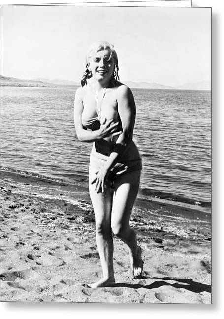 Starlet Photographs Greeting Cards - Marilyn Monroe (1926-1962) Greeting Card by Granger