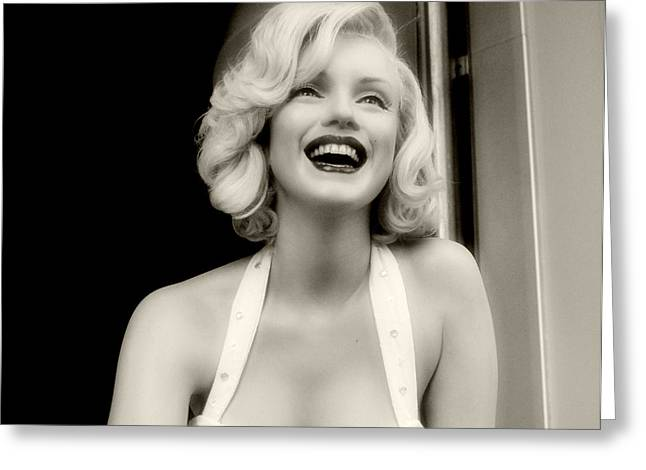 Norma Jean Photographs Greeting Cards - Marilyn Monroe 2 Greeting Card by Cindy Nunn