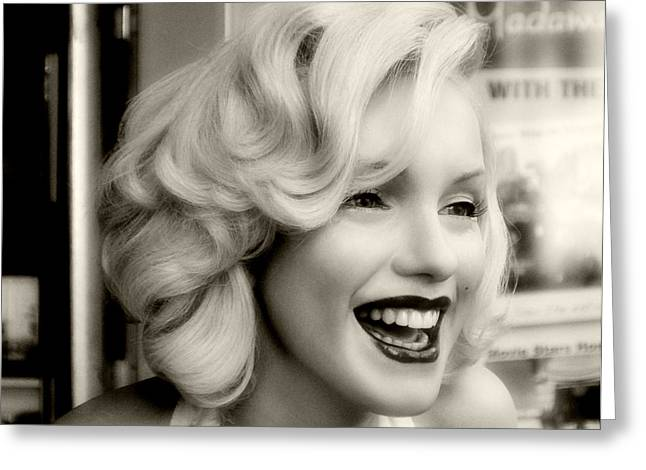 Norma Jean Greeting Cards - Marilyn Monroe 3 Greeting Card by Cindy Nunn