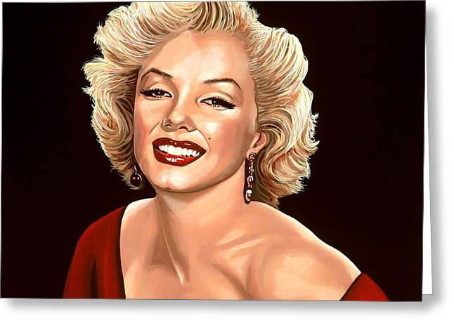 Norma Jeane Greeting Cards - Marilyn Monroe 3 Greeting Card by Paul  Meijering