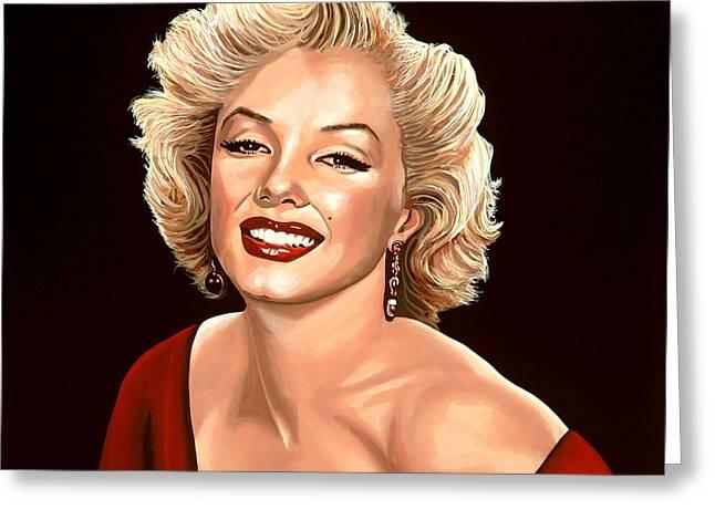 Marilyn Monroe 3 Greeting Card by Paul  Meijering