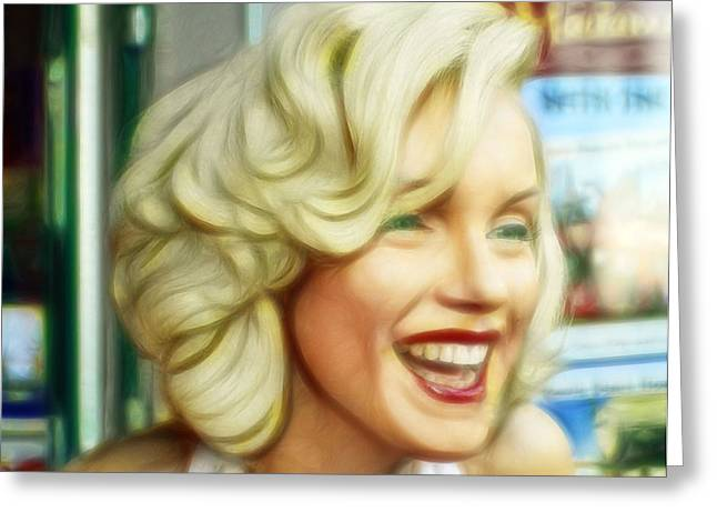 Norma Jean Photographs Greeting Cards - Marilyn Monroe 4 Greeting Card by Cindy Nunn