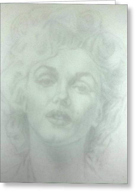 Fineartamerica Drawings Greeting Cards - Marilyn Monroe 4 Greeting Card by Mark  Leavitt