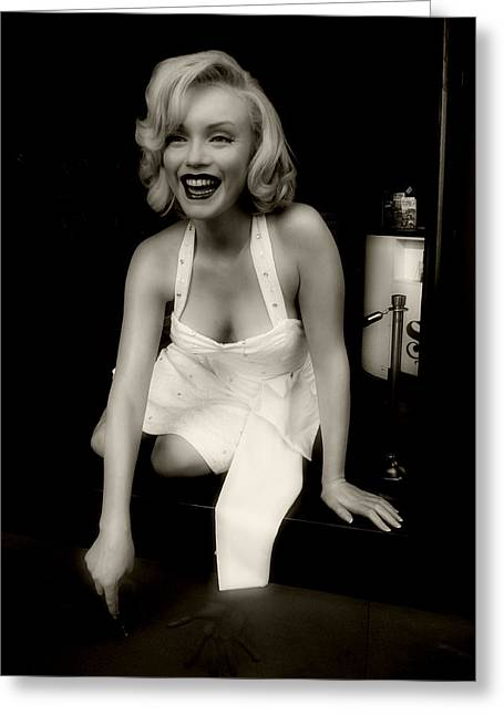 Norma Jean Photographs Greeting Cards - Marilyn Monroe 5 Greeting Card by Cindy Nunn