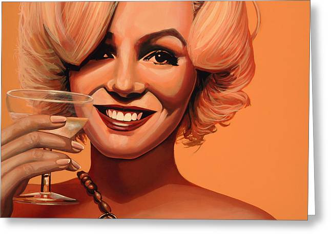 Norma Jeane Greeting Cards - Marilyn Monroe 5 Greeting Card by Paul  Meijering