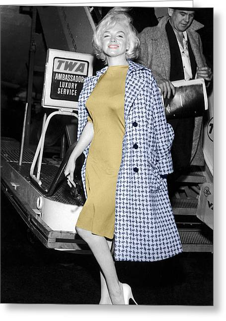 Vintage Airline Greeting Cards - Marilyn Monroe 6 Greeting Card by Andrew Fare