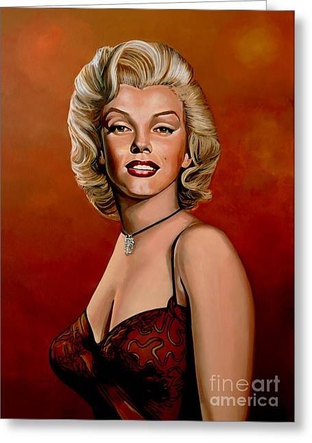 Norma Jeane Greeting Cards - Marilyn Monroe 6 Greeting Card by Paul  Meijering