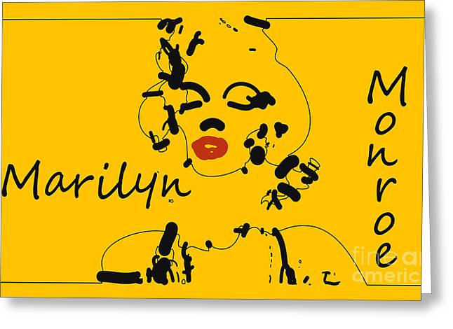 Popart Digital Art Greeting Cards - Marilyn Monroe Abstract Greeting Card by Pixel Chimp