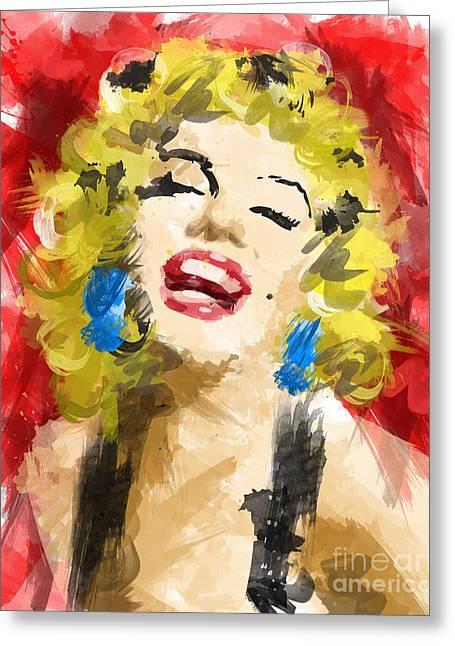 Top Selling Digital Art Greeting Cards - Marilyn Monroe Greeting Card by Ahmad Alyaseer