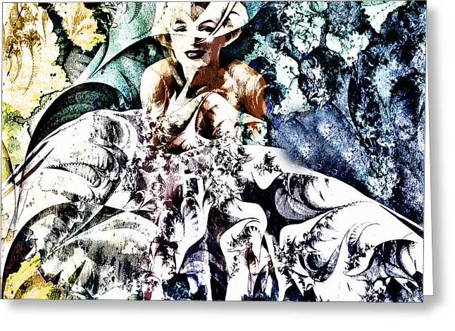 Business Beauties Greeting Cards - Marilyn Monroe and The White Dress - Grunge Greeting Card by Georgiana Romanovna