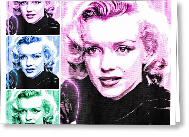 1950s Movies Greeting Cards - Marilyn Monroe Art Collage Greeting Card by Absinthe Art By Michelle LeAnn Scott