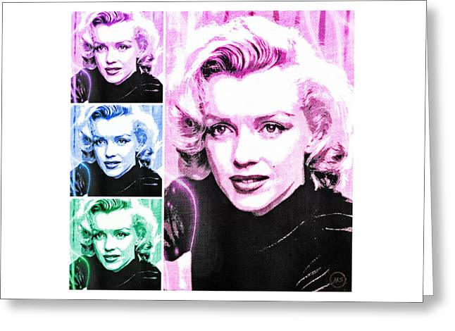 Marilyn Monroe Art Collage Greeting Card by Absinthe Art By Michelle LeAnn Scott
