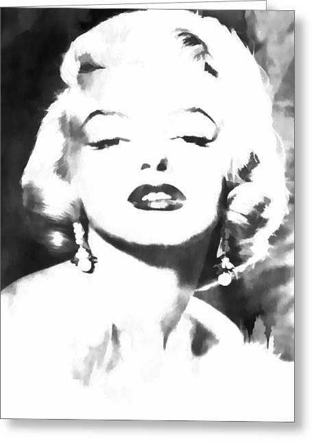 Norma Jean Greeting Cards - Marilyn Monroe Greeting Card by Athena Mckinzie