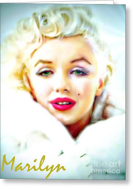 Barbara Chichester Digital Greeting Cards - Marilyn Monroe Greeting Card by Barbara Chichester