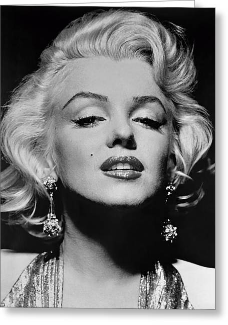 Human Being Photographs Greeting Cards - Marilyn Monroe Black and White Greeting Card by Nomad Art And  Design