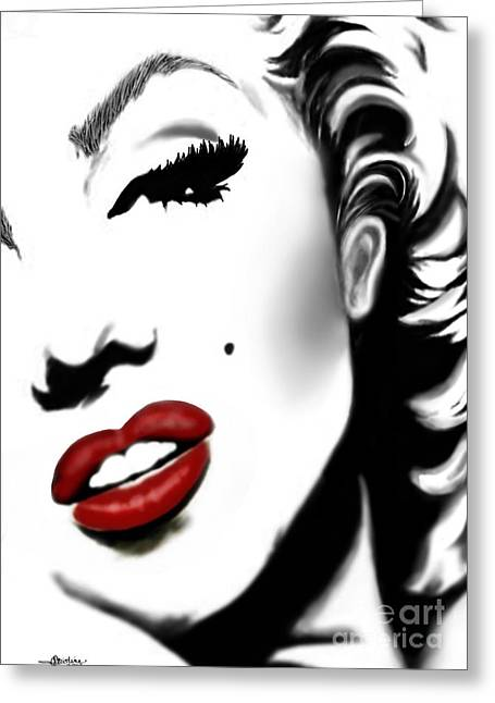 Mayfield Greeting Cards - Marilyn Monroe Greeting Card by Christine Mayfield