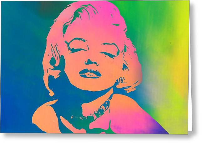 Fame Mixed Media Greeting Cards - Marilyn Monroe Color Greeting Card by Dan Sproul