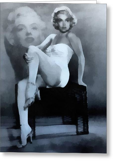 Fame Mixed Media Greeting Cards - Marilyn Monroe Greeting Card by Dan Sproul