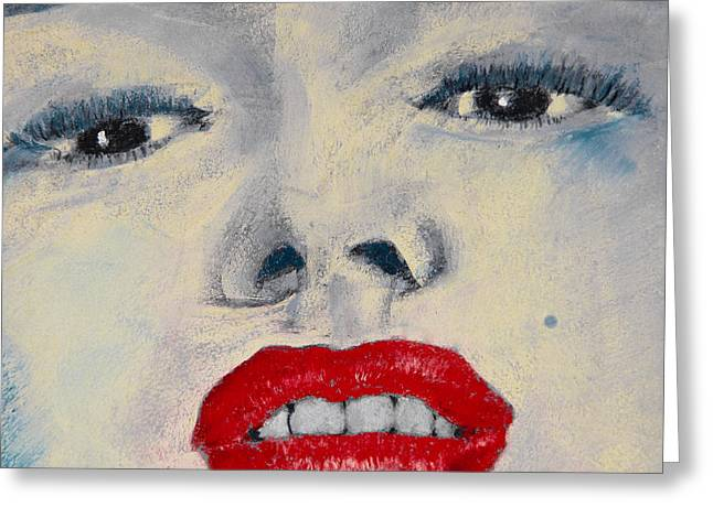 Marilyn Monroe Greeting Card by David Patterson