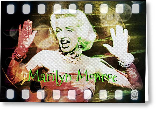 1950s Movies Greeting Cards - Marilyn Monroe Film Greeting Card by Absinthe Art By Michelle LeAnn Scott