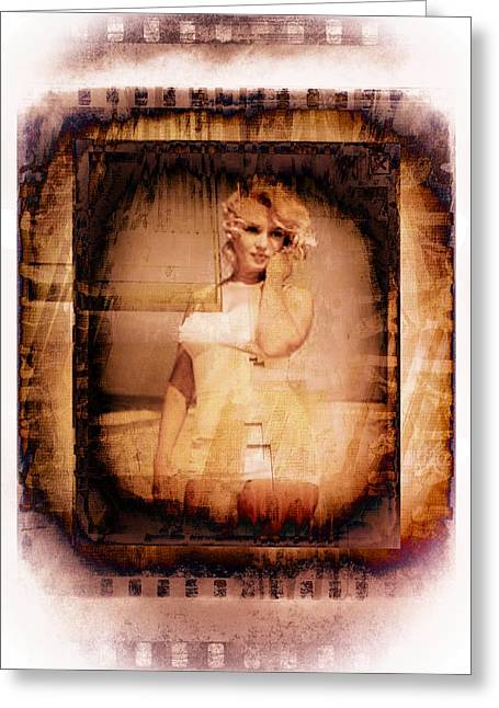 Norma Jean Photographs Greeting Cards - Marilyn Monroe Film Greeting Card by EricaMaxine  Price