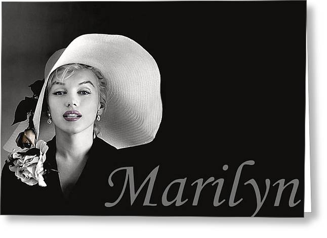 Twentieth Century Digital Greeting Cards - Marilyn Monroe Greeting Card by Gary Baird