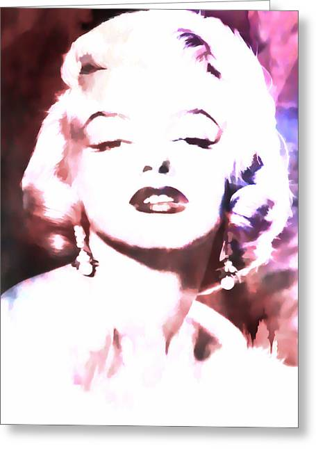 Norma Jean Greeting Cards - Marilyn Monroe Glamour Greeting Card by Athena Mckinzie