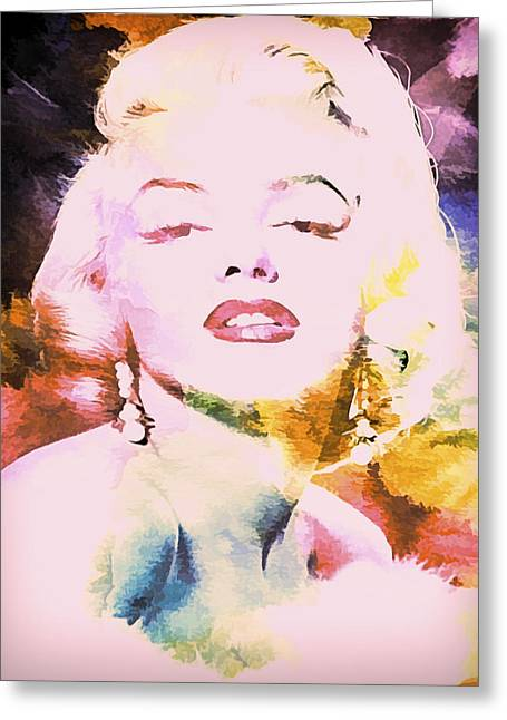 Norma Jean Greeting Cards - Marilyn Monroe Glamour II Greeting Card by Athena Mckinzie