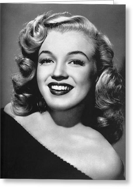 Little Black Dress Greeting Cards - Marilyn Monroe Glamour Portrait Greeting Card by Nomad Art And  Design