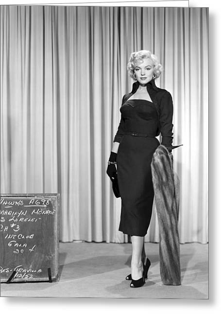 Little Black Dress Greeting Cards - Marilyn Monroe in Gentlemen Prefer Blondes Greeting Card by Nomad Art And  Design