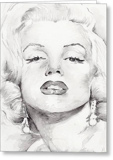 Nude Marilyn Monroe Greeting Cards - Marilyn Monroe Greeting Card by Marina Sotiriou