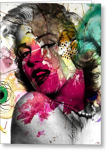 Lips Digital Greeting Cards - Marilyn Monroe Greeting Card by Mark Ashkenazi